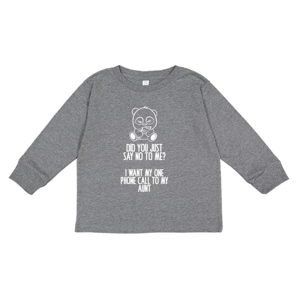 No Toddler//Kids Long Sleeve T-Shirt I Want My One Call to My Aunt