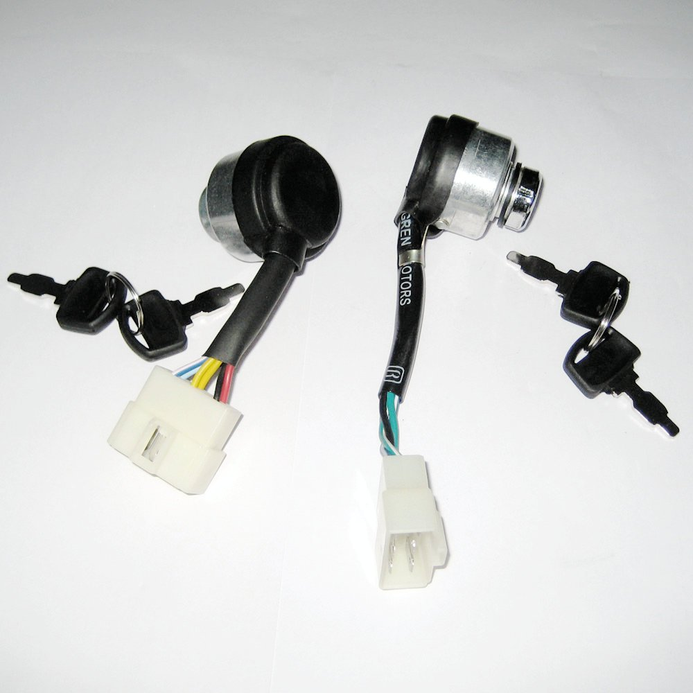 61NagSHn6fL._SL1000_ amazon com jxparts 6 wire ignition key switch for chinese  at panicattacktreatment.co