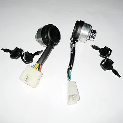 Amazon.com : J2XCO 6 Wire Ignition Key Switch for Chinese ... on