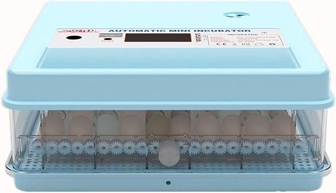HOUSEHOLD Pequeña incubadora de Huevos Inteligente, incubadora doméstica de Pollos/Patos/Gansos y codornices, incubadora de Pantalla Digital con Control de Temperatura