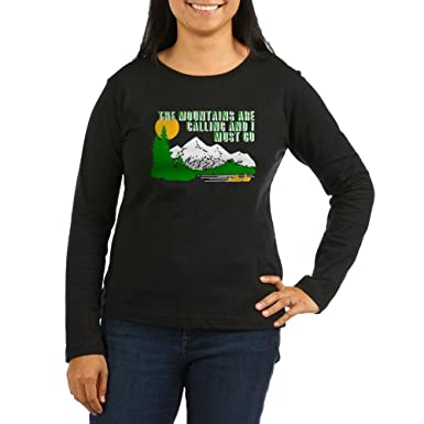 868d48b2 CafePress - Mountains Are Calling Long Sleeve T-Shirt - Women's Long Sleeve  T-