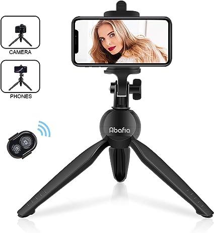 Abafia Tripode Movil Bluetooth Flexible, Mini Tripode Portatil Compatible con iOS y Android para Smartphone/Camara Digital/iPhone 11 Pro/X/8/Samsung Galaxy S10/S9/Huawei P20/Mate 10/Honor 10/ (Negro): Amazon.es: Electrónica