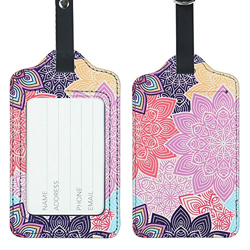 Lizimandu PU Leather Luggage Tags Suitcase Labels Bag Travel Accessories - Set of (Suitcase Tag)