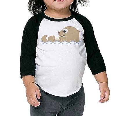 SH-rong Cute Otterly Toddler Baseball T-shirt