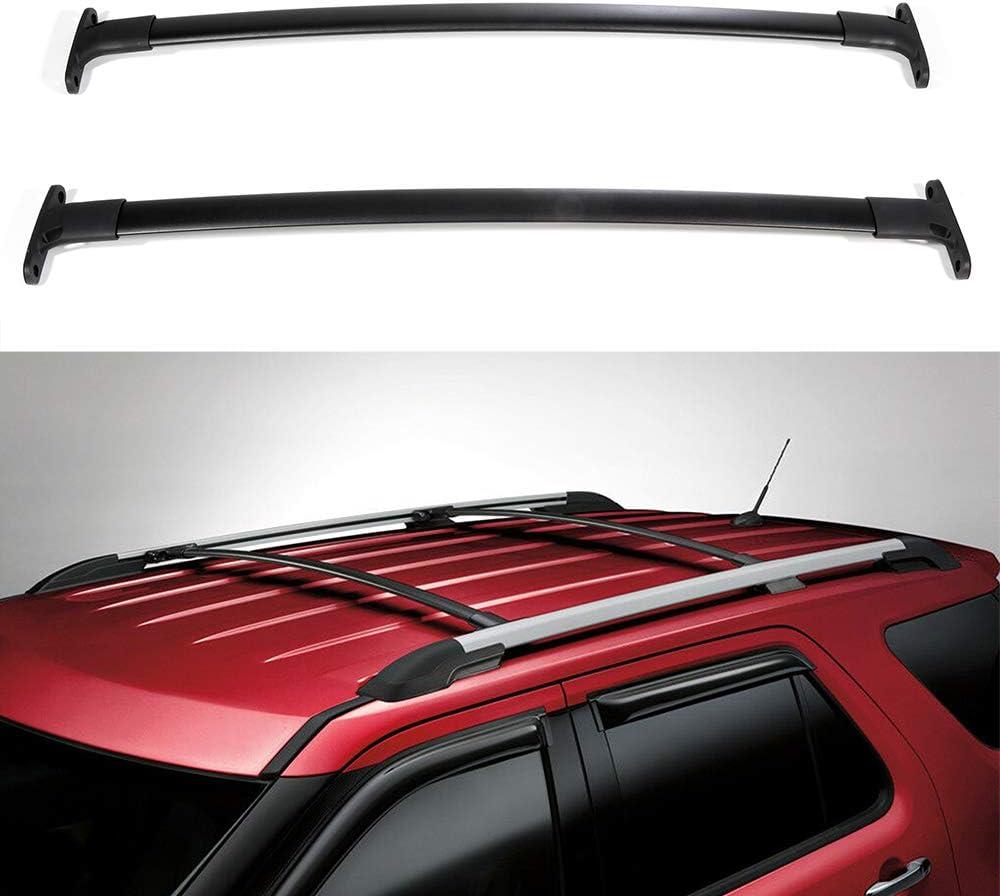 OCPTY Roof Rack Cross Bar Cargo Carrier Fit for 2016-2019 Ford Explorer Sport Utility 4-Door Roof Rack Crossbars