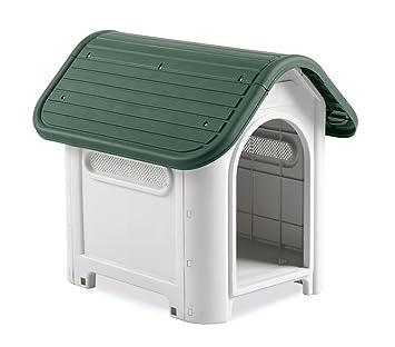 4566 Caseta en forma de casa para perro PROLABZOO con toma de aire 59.2x66x63 cm - Gris: Amazon.es: Productos para mascotas