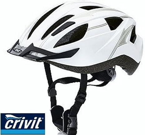 Crivit Crivit - Casco de ciclismo, color negro, talla 56 - 59 cm: Amazon.es: Deportes y aire libre