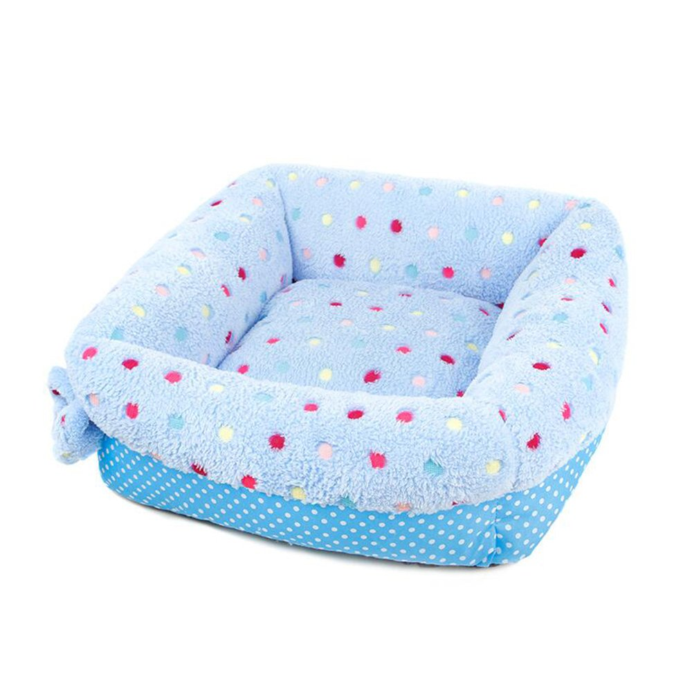 454013cm BiuTeFang Pet Bolster Dog Bed Comfort Cloth Candy color Square kennel pet nest cat Nest Mat