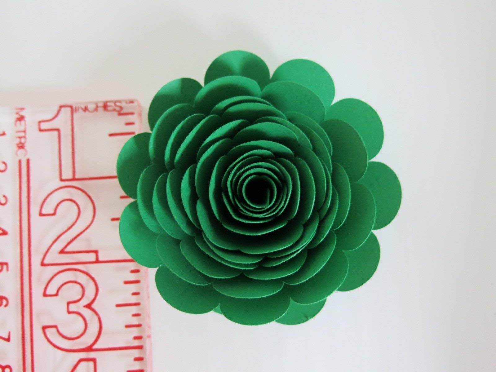 Mardi-Gras-Theme-Party-Decorations-Set-of-6-Green-Purple-and-Yellow-3-Roses-Handmade-Paper-Flowers-Always-In-Blossom-Popular-Floral-Decor