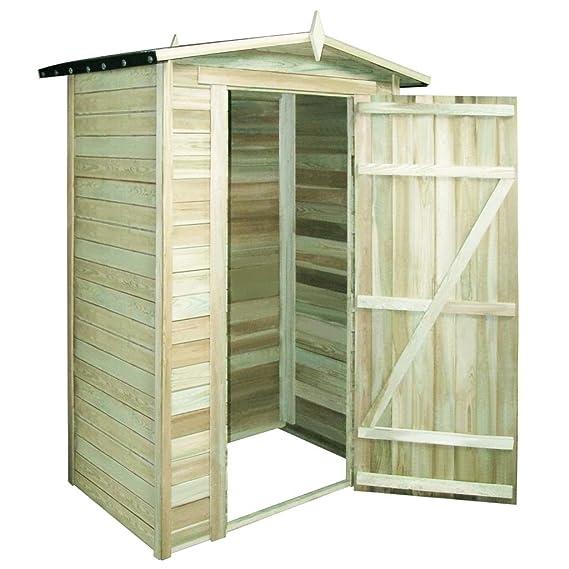 vidaXL Caseta de Almacenaje de Jardín de Madera de Pino Cobertizo de Patio: Amazon.es: Bricolaje y herramientas