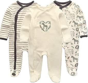 Kiddiezoom Pijama de algodón de manga larga para niños