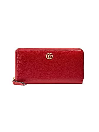 4843cc8b78f286 Gucci Women's 456117CAO0G6433 Red Leather Wallet: Amazon.co.uk: Clothing