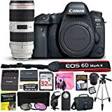 Canon EOS 6D Mark II 26.2 MP Digital SLR Camera (Wi-Fi Enabled) PROFESSIONAL PHOTOGRAPHER Lens Kit with EF 70-200mm f/2.8L IS II USM Telephoto Zoom Lens & Premium Camera Works Accessory Bundle