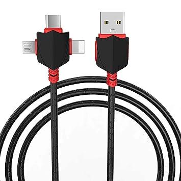LYCZB Cable de Carga USB, Cable de Cargador 3 en 1 con ...