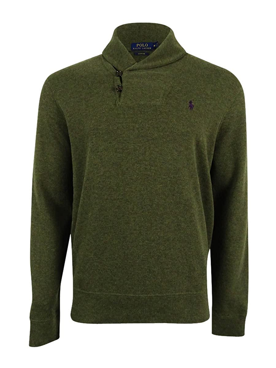 7d265108 RALPH LAUREN Polo Men's Ribbed Shawl Pullover Sweater