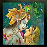 SAF Radha Krishna Painting || Radha Krishnaa painting || Radha Krishna poster || Radha Krishna wall stickers || SAF exclusive Framed Wall Art Paintings for Living room and Bedroom. Frame size (12 inch x 12 inch, (Wood, 30 cm x 3 cm x 30 cm, Special Effect Textured, SAA6137)