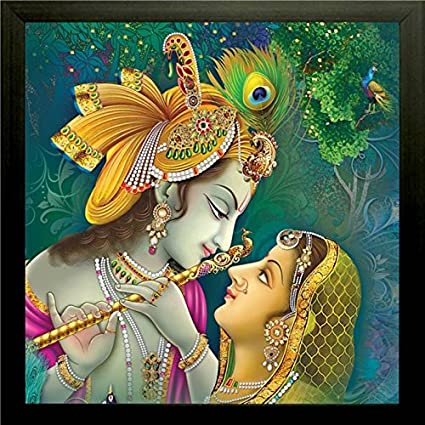 saf radha krishna wall painting synthetic 30 cm x 30 cm x 2 cm