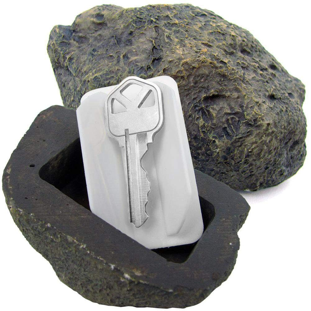 MLL Key Lock Box Simulated Stone Hide Key Fake Rock While Safely Hiding Your Spare Keys Outdoors