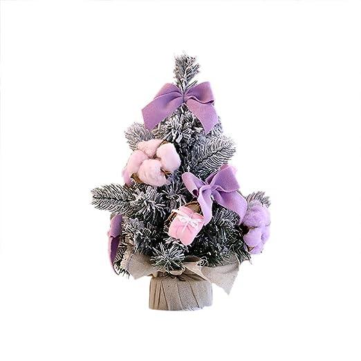 BHYDRY Bricolaje Mini árbol de Navidad Pequeño Pino Árbol de Cedro ...