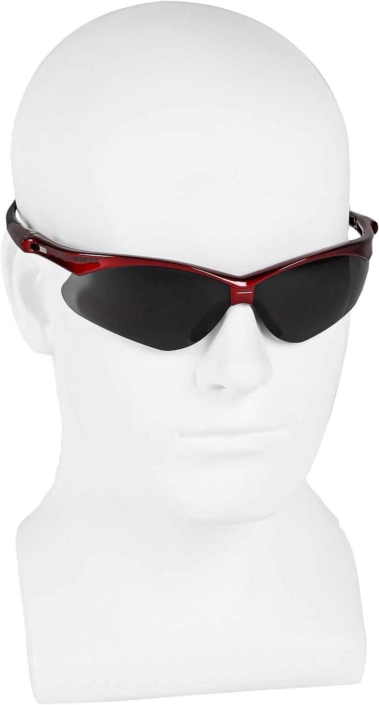 Jackson Safety V30 Nemesis Inferno Smoke Lens Safety Eyewear with Red Frame Kimberly Clark 22611