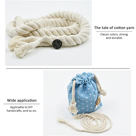 Gorgebuy Decoraciones hechas a mano Cuerda de algodón natural que ...