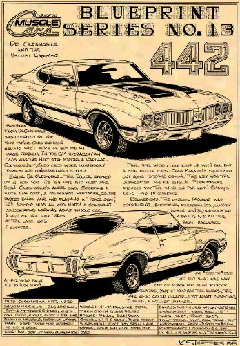 - 1970 Oldsmobile 442 Art Print