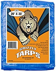 B-Air Grizzly Tarp, 8 x 8 Weave, Multi Purpose Waterproof Tarp, 8X10, Blue, Pack of 20