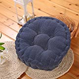 STJK$BMJW Tatami Floor Cushions Thick Bedroom Chairs And Cushioned Seat Pad Small Child Booster Seats Fruit Fabrics 39X39Cm Blue