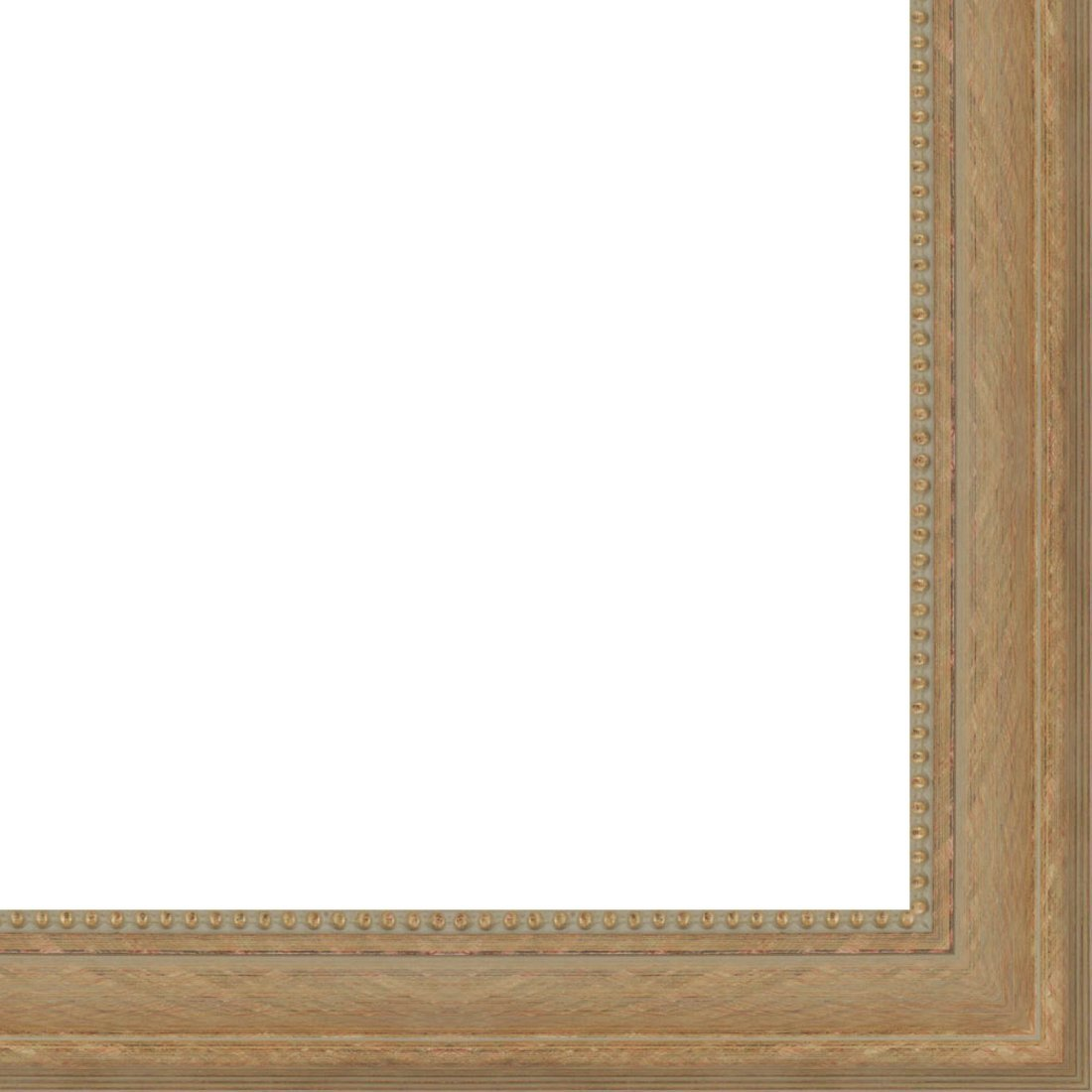 Picture Frame Moulding (Wood) 18ft bundle - Traditional Antique Gold Finish - 3'' width - 7/16'' rabbet depth