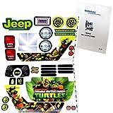 Power Wheels DRH62 Teenage Mutant Ninja Turtles Jeep Decal Sheet #3900-4213 With Care Guide