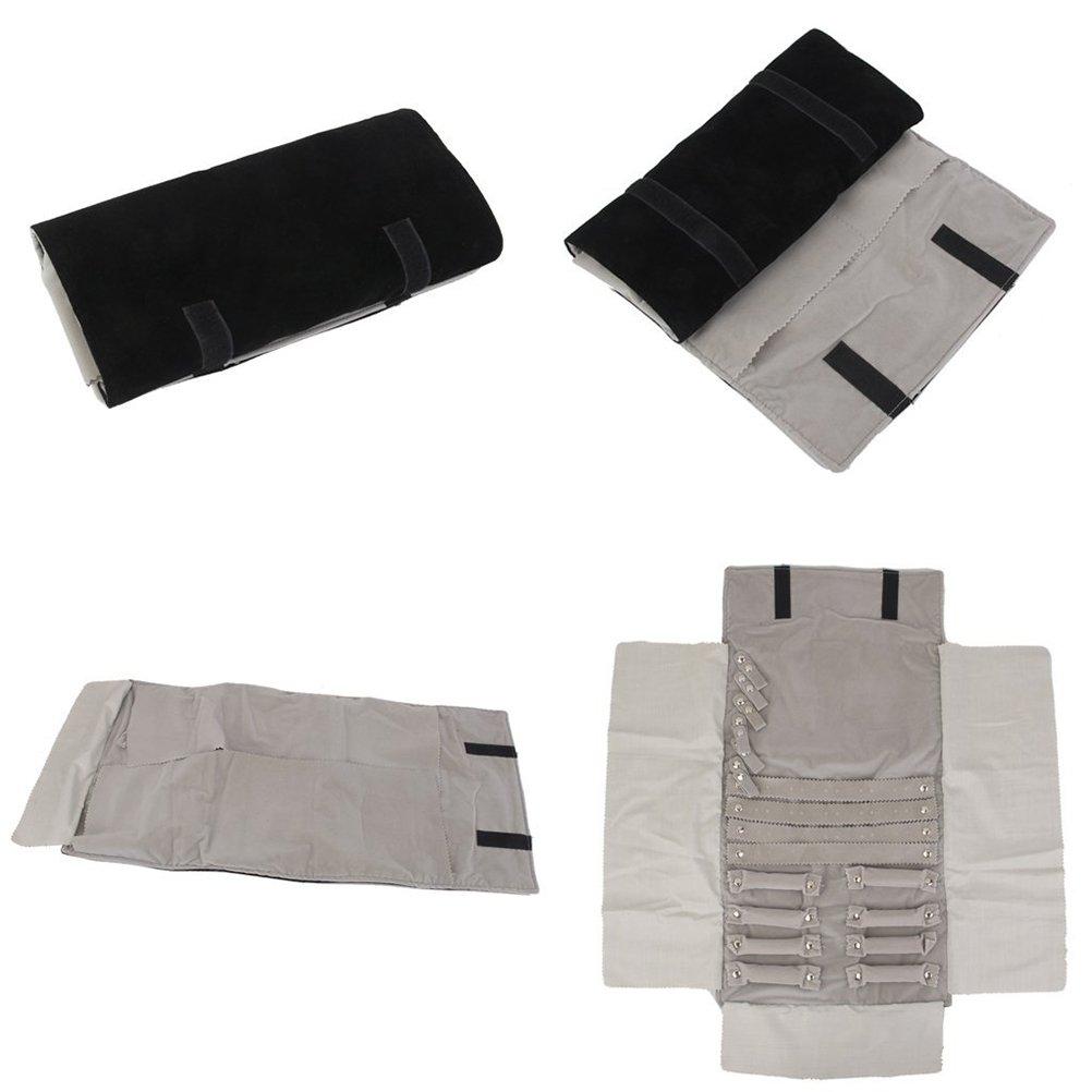 FENICAL gioielli Roll Roll velluto Bag storage bag orecchini collana Roll viaggio organizzatore