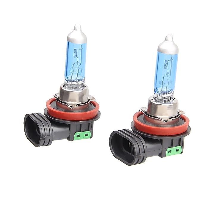 1 opinioni per 2pcs H11 6000k Faro Allo Xeno Alogena Gas Lampada Luce Bianca Lampadine 100w 12v