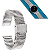 Moto 360 2nd Gen Band (46mm), Lucco 22mm Metal Watch Band Strap for Pebble Time Steel, Asus Zenwatch 2nd W1501Q (Silver)