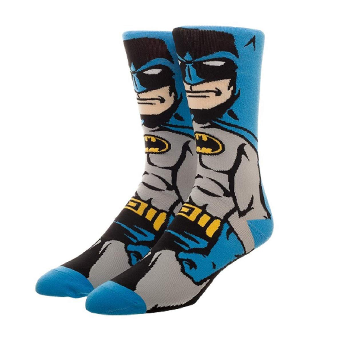 DC Comics Licensed Adult Crew Socks (Various Designs) (Batman Cape)