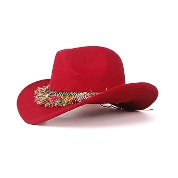 Yajie Lana Para Fieltro Mujer Vaquero SombreroDe Occidental rCedQxBoW