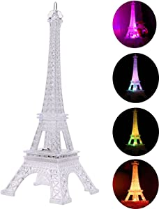 LED Night Light, LEDMOMO Acrylic Eiffel Tower Flashing LED Colorful Night Light Romantic Atmosphere Nightlight Desk Lamp