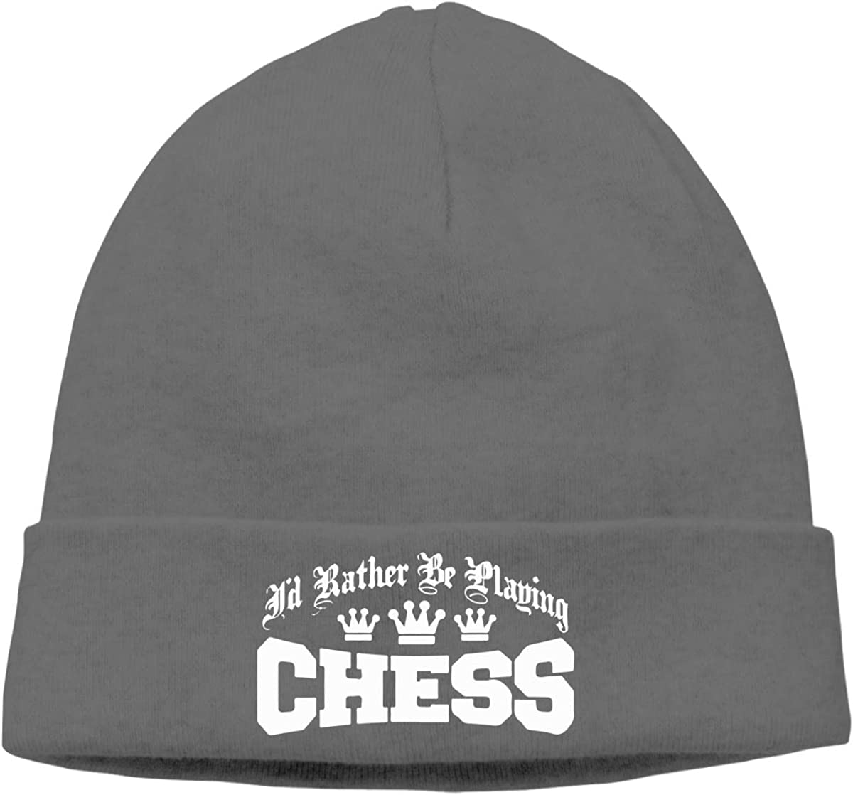 Lapptty Cap Id Rather Be Playing Chess Men Women Beanie Hat Knitted Beanie Knit Beanie