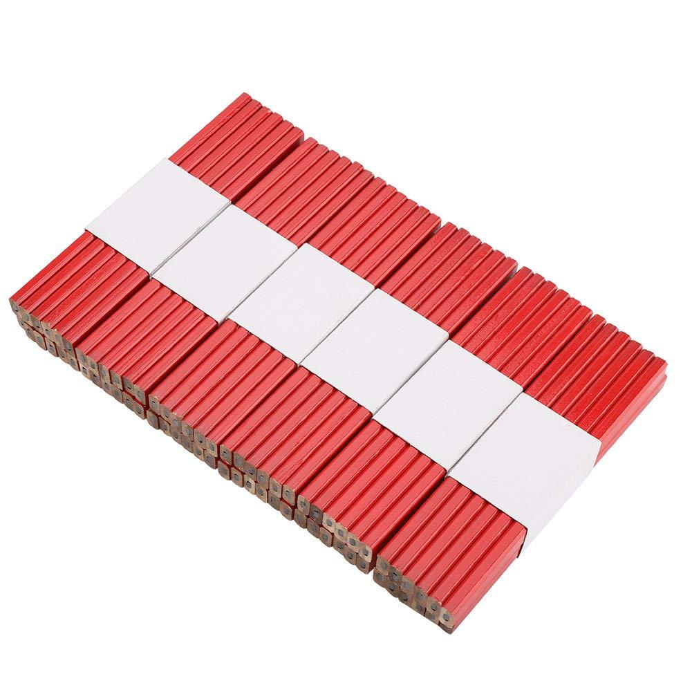 L/ápices de carpintero negro duro 72pcs 175mm L/ápiz de carpintero octagonal rojo duro herramienta de marcado de carpinter/ía