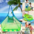 Beach Mesh Tote Bag, Beach Necessaries Children Toys Stay Away from Sand for the Beach Pool Boat, Perfect for Holding Toys Balls