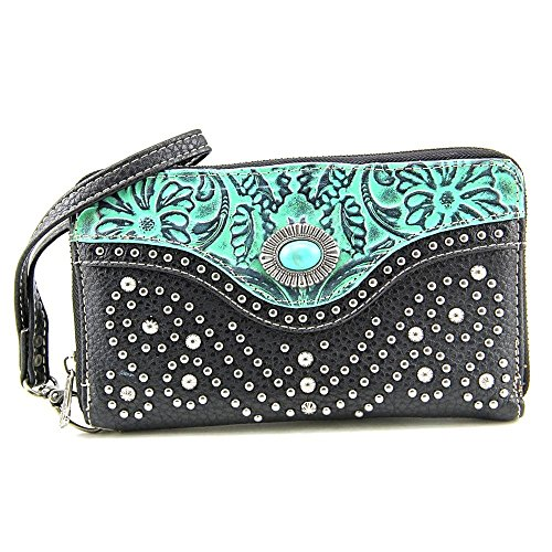 montana-west-womens-trinity-ranch-turquoise-tooled-design-wallet-black-one-size