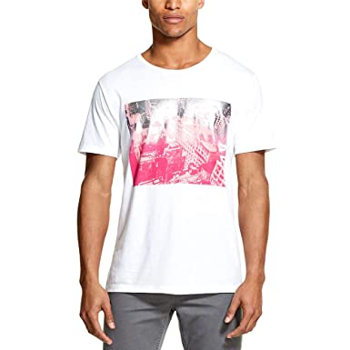 Dkny Men S Graphic Print T Shirt White X Large Amazon Com