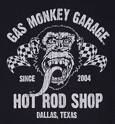 Mens Black Fast N Loud Gas Monkey Garage Hot Rod Shop Premium T Shirt