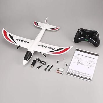 Candybarbar FX FX-818 2.4 G 2 CH Control Remoto Glider 475 mm Wingspan EPP RC ala Fija avión Drone para niños Regalo RTF: Amazon.es: Juguetes y juegos