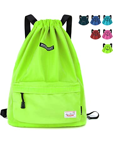 7d9540751bc WANDF Drawstring Backpack Sackpack Water Repellent Gymbag for Shopping  Sport Yoga, Purple