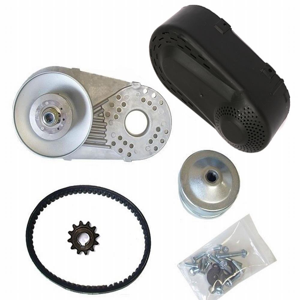 Mophorn Torque Converter Go Kart Clutch Go Kart Clutch Set Torque Converter Kit Five Eighths Inch Driven 1 Inch Driver with Belt
