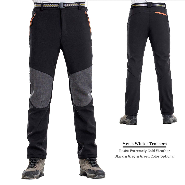 7VSTOHS Pantaloni Outdoor da Uomo Pantaloni da Trekking Impermeabile Antivento Traspirante Caldo Pantaloni da Caccia Pantaloni Invernali da Viaggio per Inverno//Autunno//Primavera