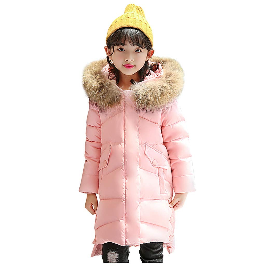 Sameno Kids Faux Fur Jacket Winter Snowsuit 4-12 T Toddler Baby Girl Down Suit Snow Coat Organic Cotton Hooded Outfit by Sameno baby clothing