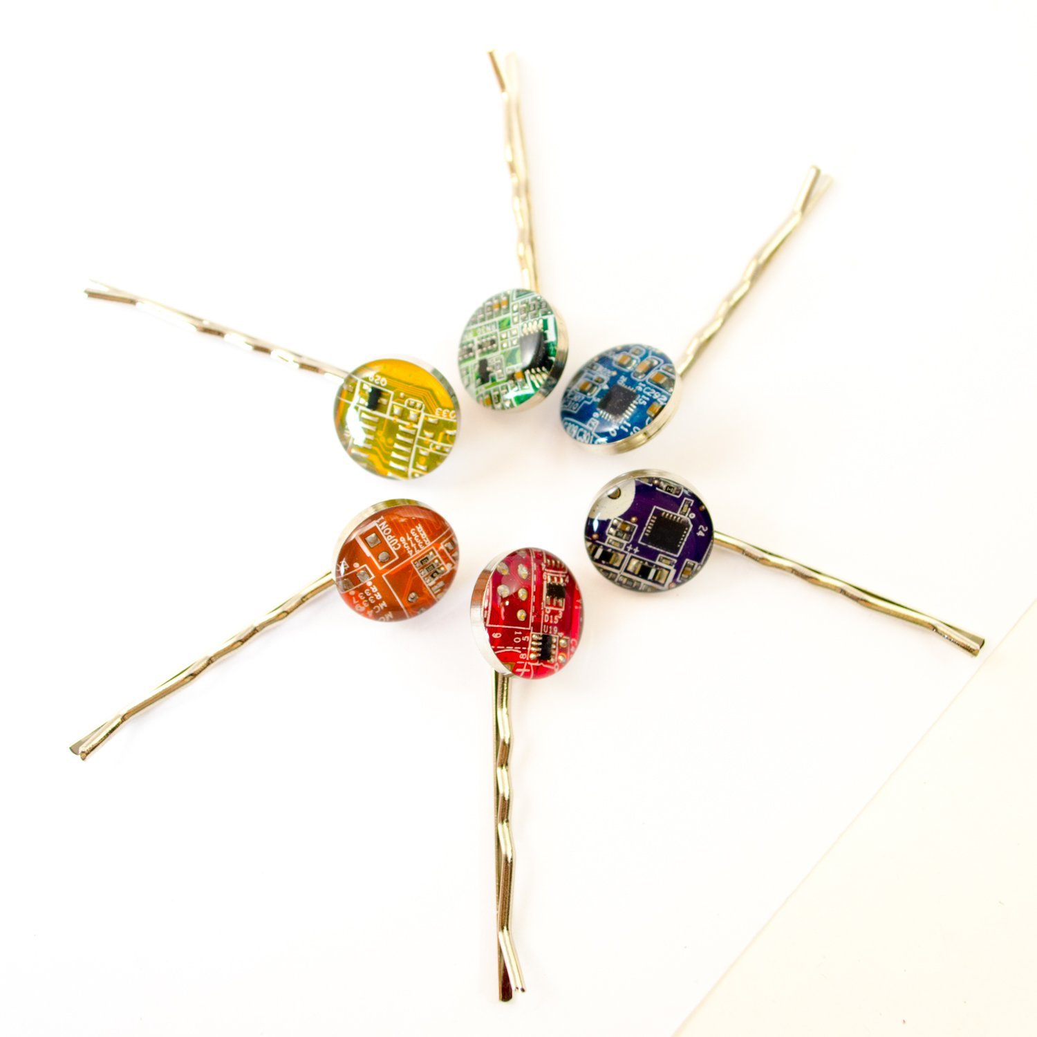 Circuit Board Bobby Pins Christmas Gifts 2018 Jewelry
