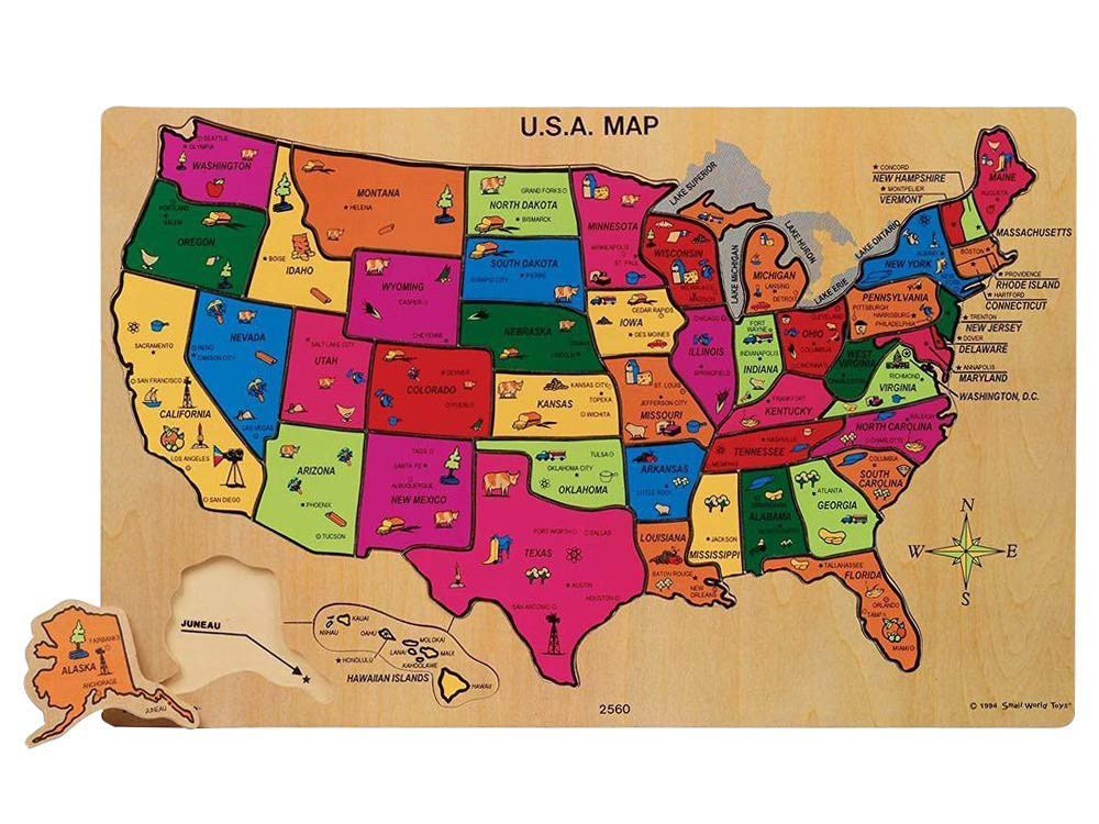 Amazon.com: Ryan\'s Room (U.S.A. Map Puzzle): Toys & Games