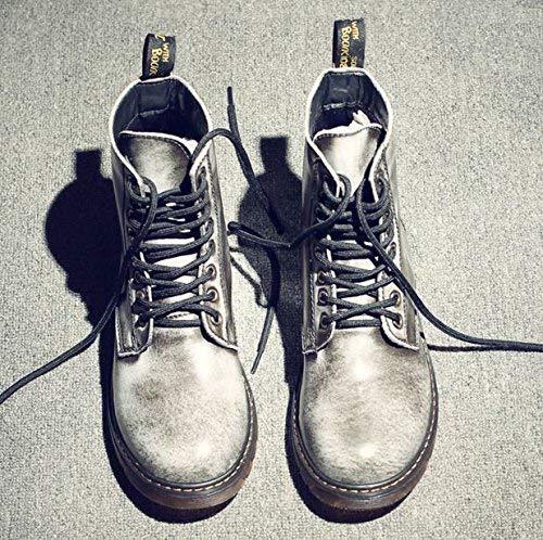 di di FuweiEncore FuweiEncore FuweiEncore Dimensione in Stivali Morbida Pizzo da Pelle Martin Uomo Colore comode Scarpe Alti 39 6q6Zrzw